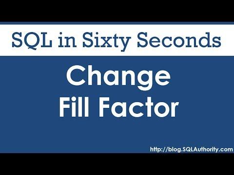 SQL SERVER - 2008 - 2005 - Rebuild Every Index of All Tables of Database - Rebuild Index with FillFactor 0