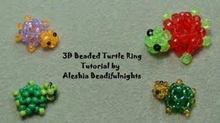 3D Beaded Turtle Ring Tutorial