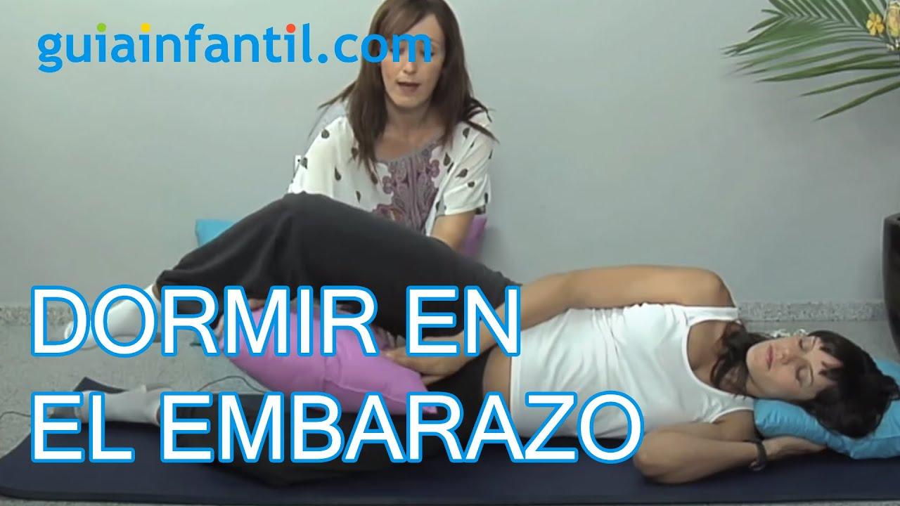 Cómo dormir en la fase final del embarazo