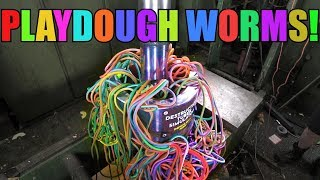 Making Giant Playdough Worms with Hydraulic Press | ODLY SATISFYING!