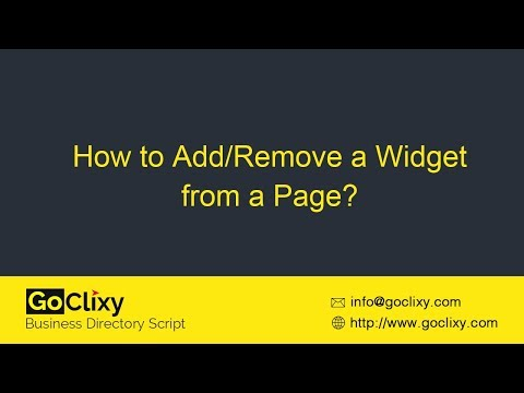 GoClixy - How to Add/Remove a Widget from a Page?