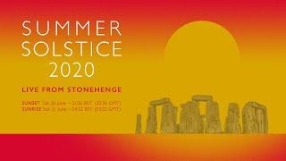 Sunset   Summer Solstice 2020 at Stonehenge