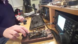 Morse Code QSO Using An American Military J-38 Telegraph Key