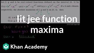 IIT JEE Function Maxima