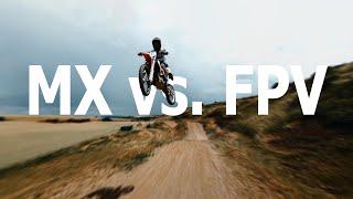 FPV DRONE - Following Motocross
