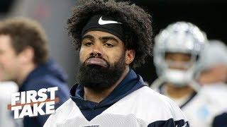 Is Ezekiel Elliott hoping the Cowboys struggle without him? | First Take