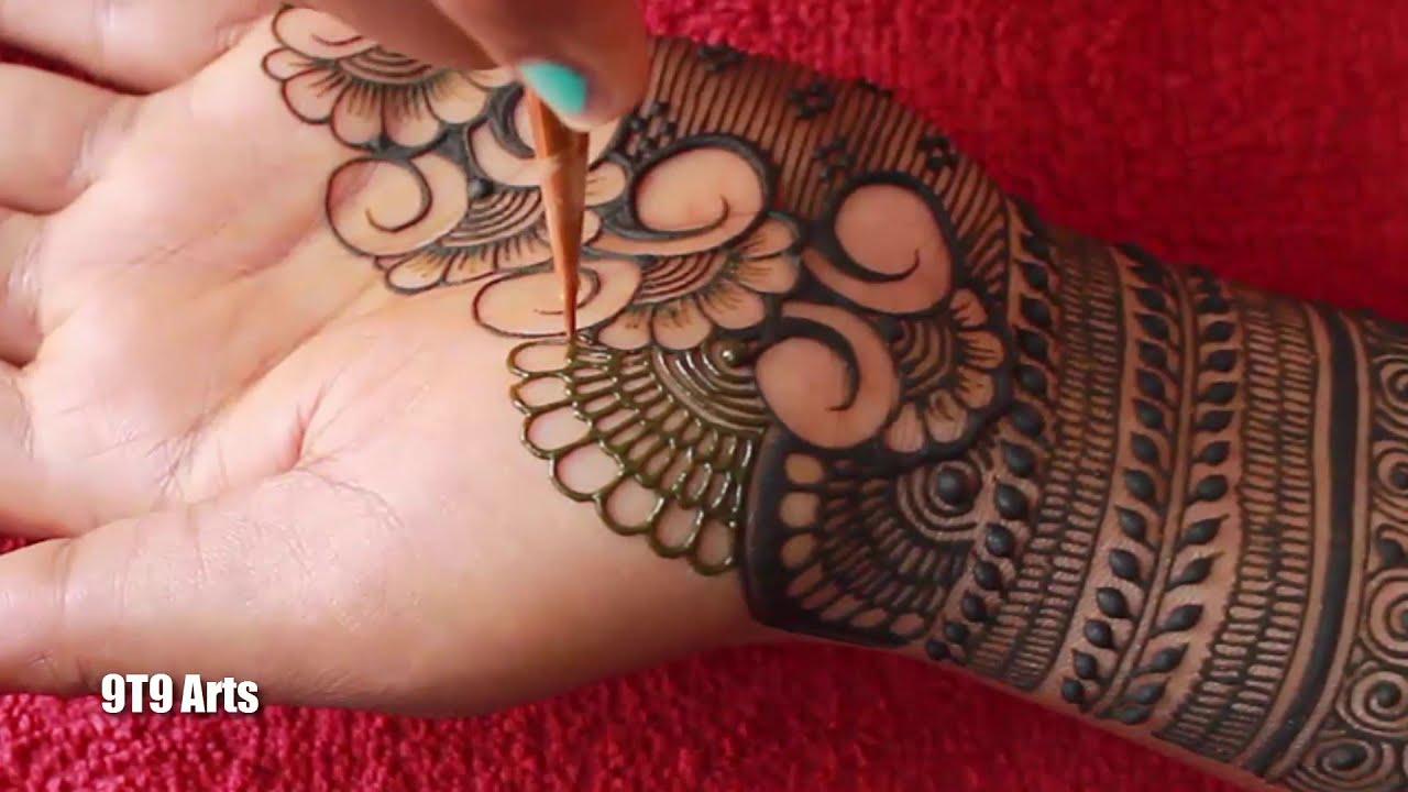 stylish bridal mehndi designs by 9t9 arts