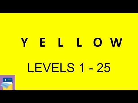 Yellow (game): Levels 1 - 25 Walkthrough & iOS Gameplay (by Bart Bonte)