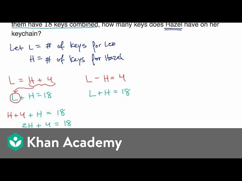 Systems of linear equations word problems — Basic example