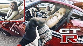 Мотоцикл VS Nissan GTR - Девушка повелась на крутую машину