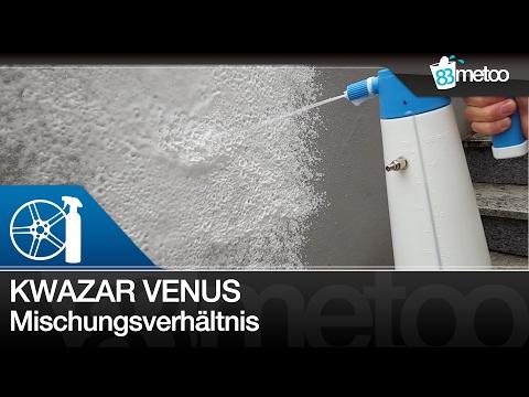 Mischungsverhältnis für Kwazar Schaumsprüher Venus Super Foamer