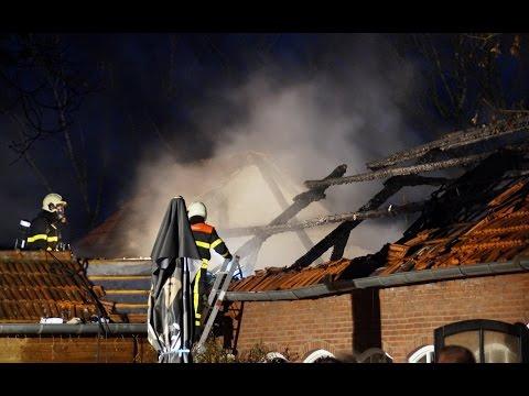 Uitslaande brand bij De Gerrithoeve in Oisterwijk