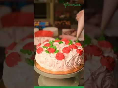 Decorated Cake At Home | #Shorts #Short #Youtubeshorts #cake #cooking #recipe #food #cookie