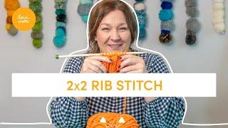 2x2 Rib stitch Knit