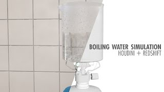 Houdini + Redshift: Boiling Water simulation