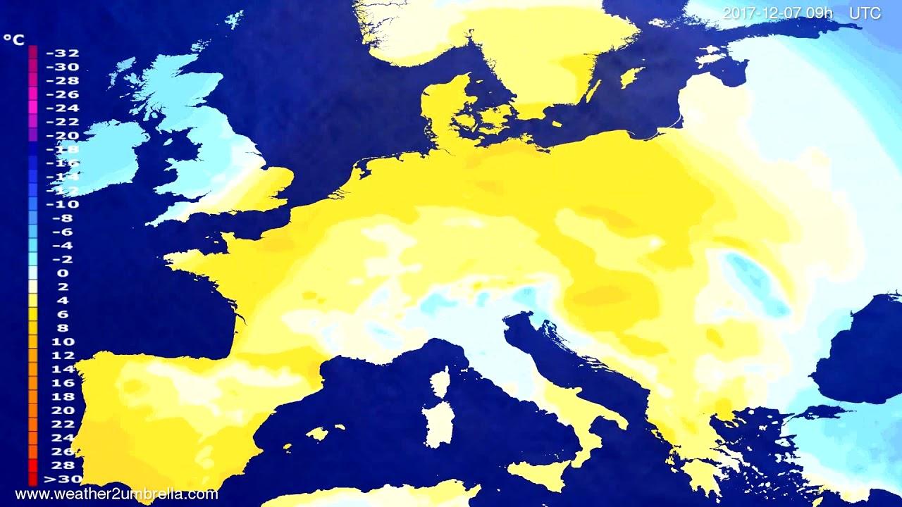 Temperature forecast Europe 2017-12-03