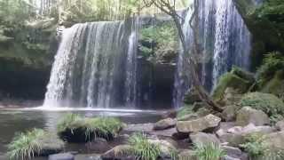 「滝」鍋ヶ滝熊本県阿蘇郡小国町人気観光スポット