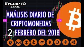 ANALISIS TÉCNICO DE CRIPTOMONEDAS BITCOIN RIPPLE ETHEREUM CASH LITECOIN 2 FEBRERO 2018 HOY