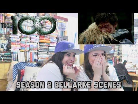 THE 100 SEASON 2 BELLARKE SCENES REACTION PT 1
