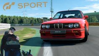 Попытки дрифта за рулём BMW M3 E30 на долгожданном Tsukuba Circuit | Новое обновление GT: Sport