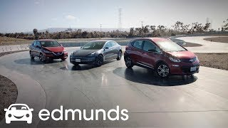 Electric Trio: The Chevrolet Bolt, Nissan Leaf and Tesla Model 3 Square Off |  Edmunds