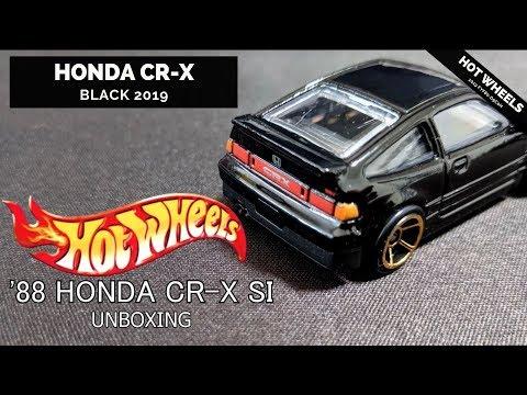 Hot Wheels '88 BLACK HONDA CRX CR-X SI 1/64 UNBOXING New for 2019