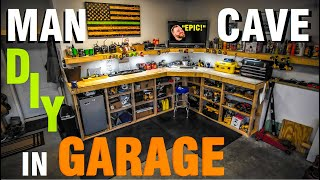 HOW TO BUILD A WORKBENCH FOR GARAGE / DIY Garage Workbench And Shelves