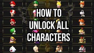 Mario Kart Wii - How to Unlock All Characters