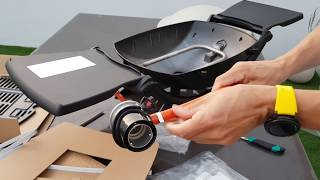 Weber Q2000 Gas Grill unboxing..