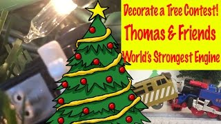 Thomas And Friends Minis Decorate A Christmas Tree - World's Strongest Engine