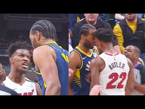 Jimmy Butler Wanna Fight TJ Warren Then Blows Him A Kiss Goodbye After Ejection! Heat vs Pacers