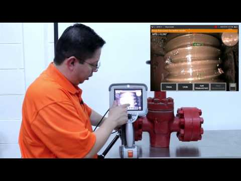 Inspección visual a un esparrago de una válvula de compuerta