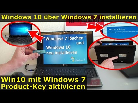 Windows 10 über Windows 7 installieren und mit Win7-Product-Key aktivieren