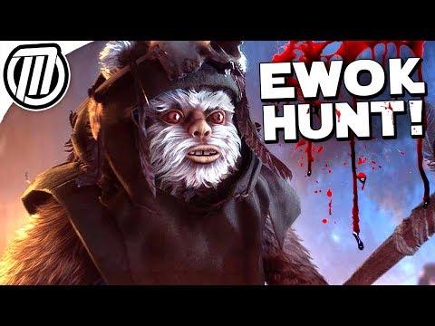 Star Wars Battlefront 2: EWOK HUNT Gameplay - Surviving a Night on Endor