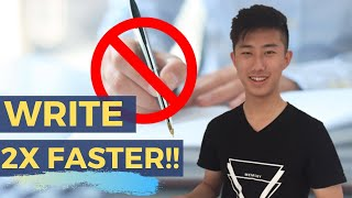 Write 2x FASTER with these Two Methods!!