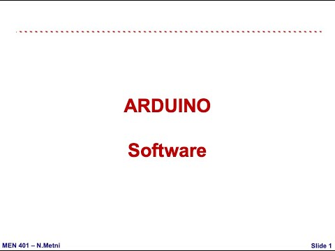Arduino Software Basics - Mechatronics NDU