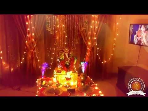 Yamini Upadhyay Home Ganpati Decoration Video