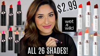NEW WET N WILD MEGA LAST LIP COLORS MATTE & HIGH-SHINE | Lip Swatches + Review