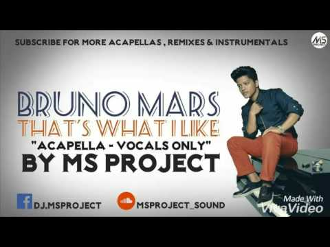 Bruno Mars - That's What I Like (Acapella - Vocals Only) + DL