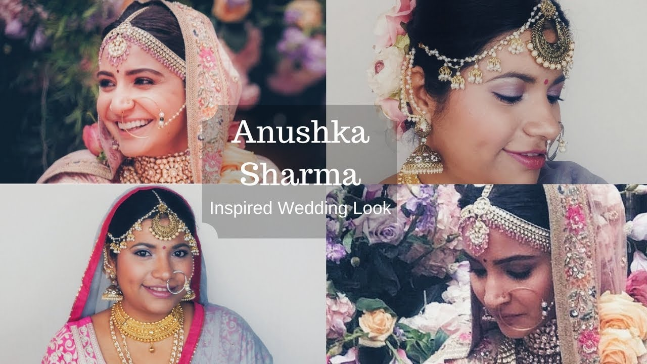 Anushka Sharma Wedding Look Inspired Celebrity Makeup Tutorial Episode 11
