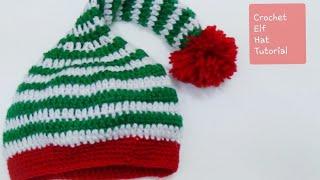 Very Easy Crochet Elf Hat-1