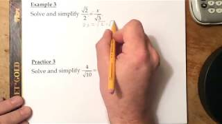 10-2: Special Right Triangles – Examples (39:40)