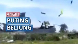 Video Detik-Detik Angin Puting Beliung Terjang Kabupaten Tulang Bawang, Lampung, Ratusan Rumah Rusak