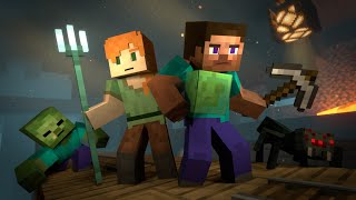 MINESHAFT - Alex and Steve Life (Minecraft Animation)