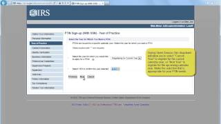Create an Account and Apply for a PTIN Part 2 - IRS Tax Aid - Tax Problem Information