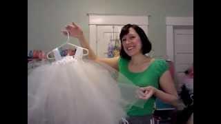 Ivory Flower Girl Tutu Dress By Fairytale Tutus At Www.fairytaletutus.com