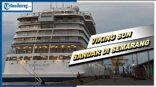 Kapal Pesiar Viking Sun yang Sempat Ditolak Akhirnya Sandar di Pelabuhan Tanjung Emas
