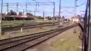 preview picture of video 'Inowrocław przejazd pociągiem TLK Doker - wjazd na stację, postój oraz odjazd'