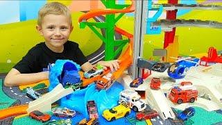 Машинки для детей и Хот Вилс Акула. Мультики про Машинки Hot Wheels. Полицейские машинки