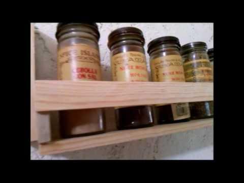 Especiero para cocina de mini repisa